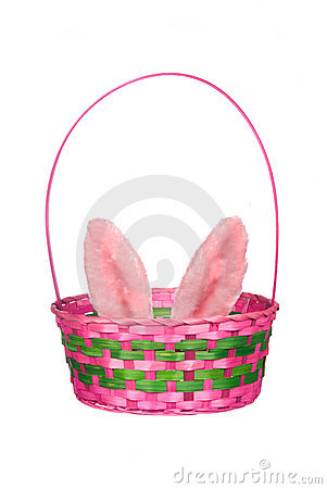Easter basket with bunny ears