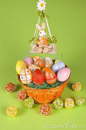 Easter basket and a cradle