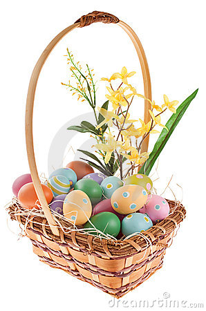 Easter Basket with floral arrangement