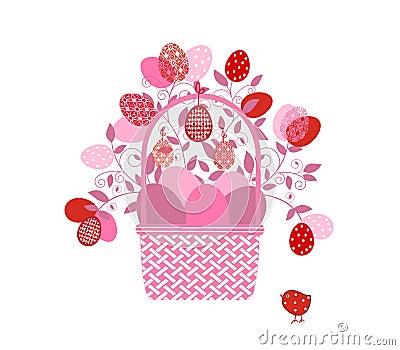 Easter Basket flourish