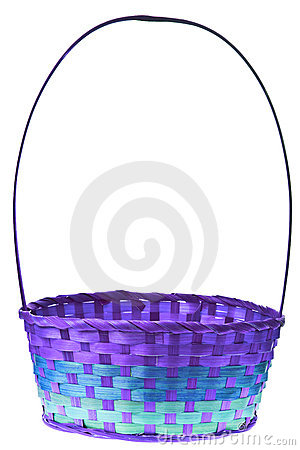 Free Easter Basket Isolated Royalty Free Stock Photo - 13193105