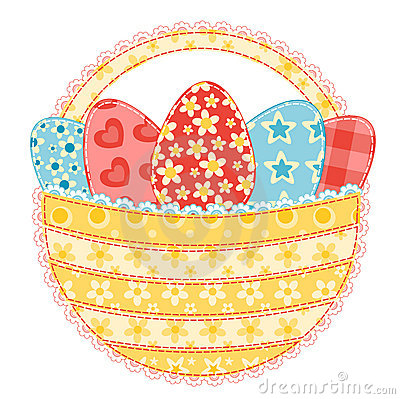 Free Easter Basket On White. Stock Images - 22762744