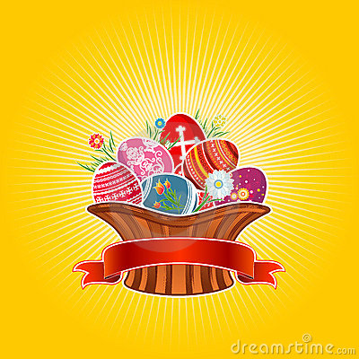 Free Easter Basket, Vector Royalty Free Stock Photos - 2037608
