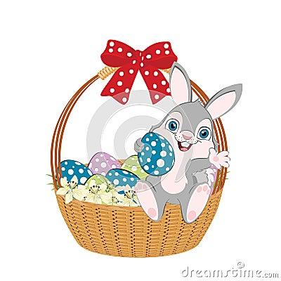 Easter basket width bow