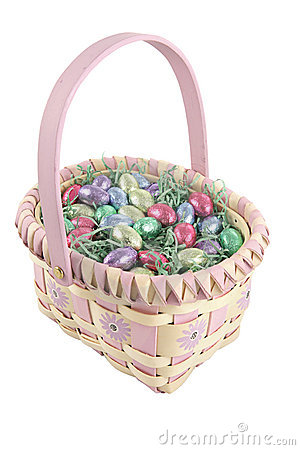 Free Easter Basket With Path Stock Image - 1825011