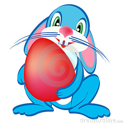 Easter blue bunny