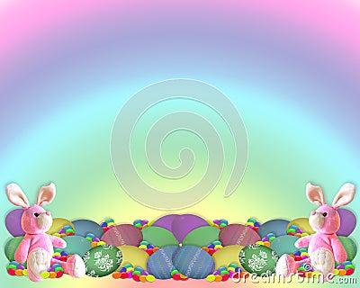 Easter Border Bunny eggs candy
