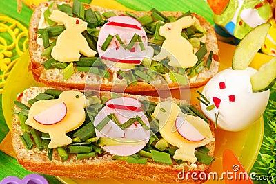 Easter breakfast for child