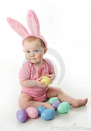Free Easter Bunny Baby Royalty Free Stock Photos - 18909568