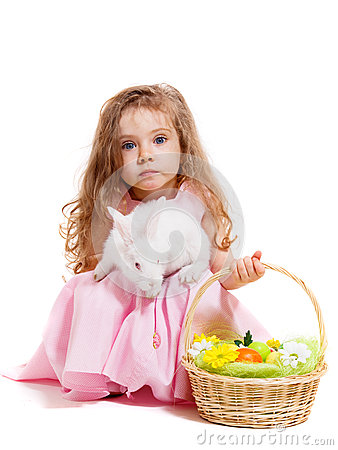 Easter bunny and basket
