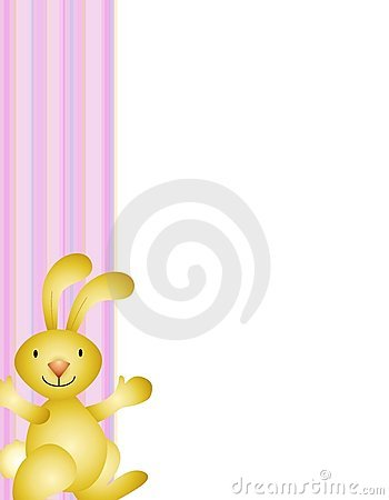 Easter Bunny Border Background