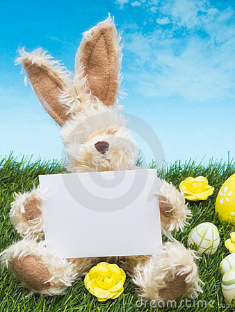 Easter Bunny with Card
