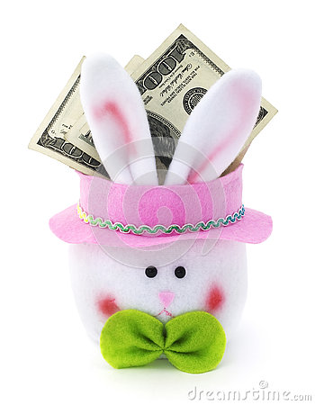Free Easter Bunny Cash. Stock Photography - 76483772