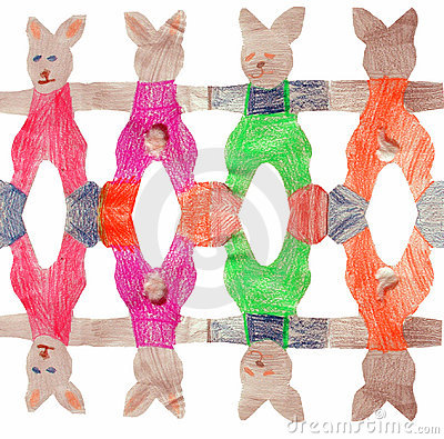 Free Easter Bunny Chain Stock Image - 442131