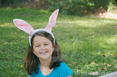 Easter Bunny child
