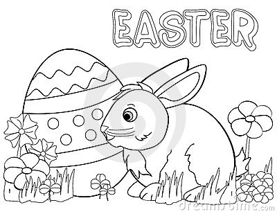 images of easter bunny coloring pages | Easter Bunny Coloring Page Royalty Free Stock Photo ...