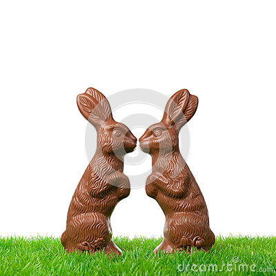 Free Easter Bunny Couple Royalty Free Stock Images - 35721519