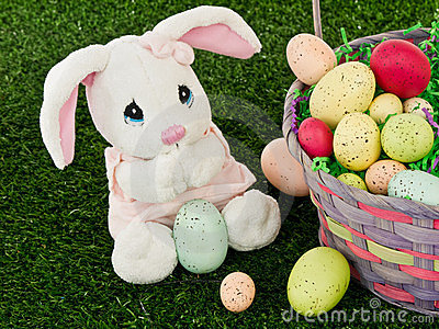 Easter Bunny and Easter Basket