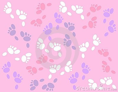 Easter Bunny Footprints Background