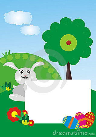 Easter bunny with photo frame