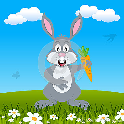 Easter Bunny Rabbit in a Meadow