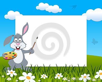 Easter Bunny Rabbit Photo Frame