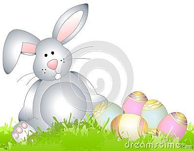 Easter Bunny Spring Grass Eggs