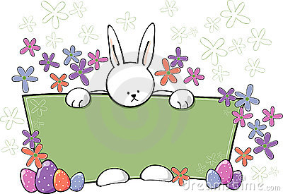 Easter Bunny Text Panel