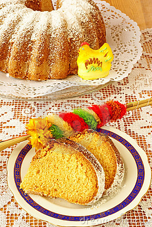 Free Easter Cake (baba) Royalty Free Stock Photo - 19061935