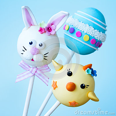 Free Easter Cake Pops Stock Image - 42078211