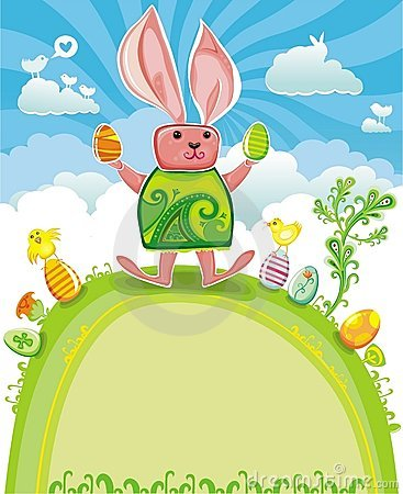 Easter card with Easter bunny