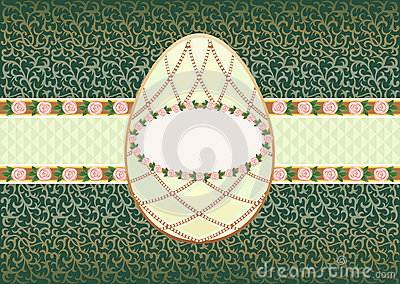 Easter card with the egg form.