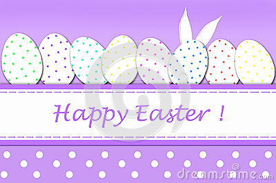 Easter card with eggs in dots