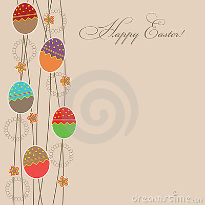 Easter card template  illustration