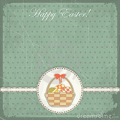 Easter card in vintage style