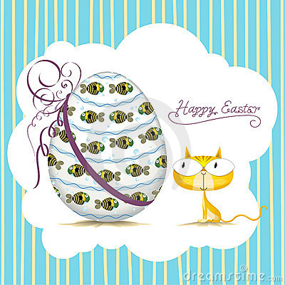 Easter cat_card