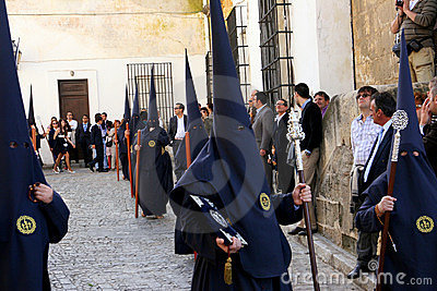 Easter celebration parade in Jerez, Spain Editorial Photography