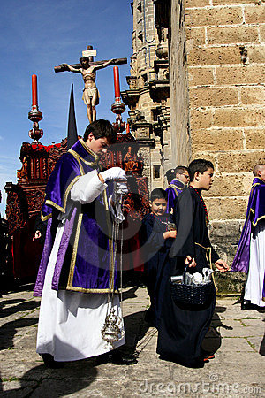 Easter celebration parade in Jerez, Spain Editorial Photo