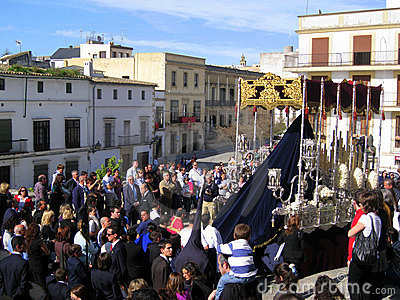EASTER CELEBRATION PARADE IN JEREZ, SPAIN Editorial Stock Photo