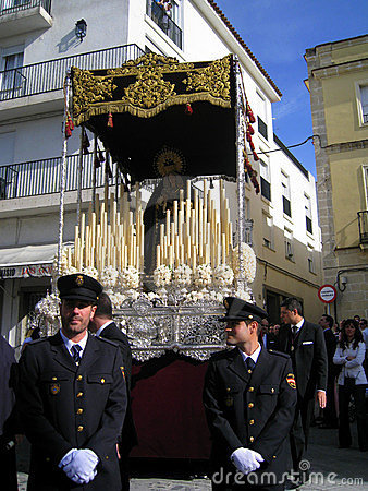 EASTER CELEBRATION PARADE IN JEREZ, SPAIN Editorial Stock Image