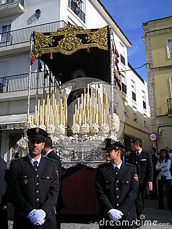 EASTER CELEBRATION PARADE IN JEREZ, SPAIN Editorial Stock Image