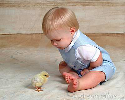 Easter Chick and Baby