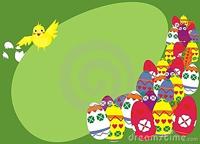 Easter chicken composition