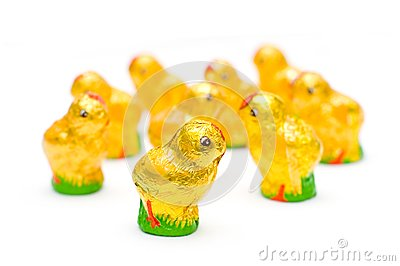 Easter chocolate chickens