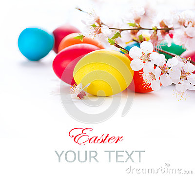 Free Easter. Colorful Easter Eggs Stock Photography - 39730872