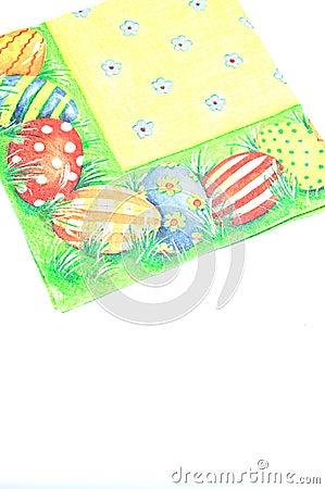 Easter coloured napkin