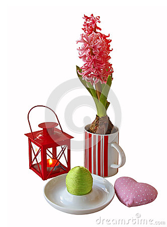 Easter composition with  hyacinth it is isolated