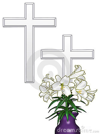 Easter Cross and Lilies