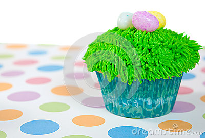 Easter Cupcake with eggs