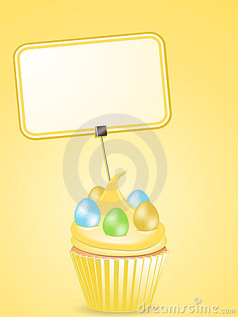 Easter cupcake and label